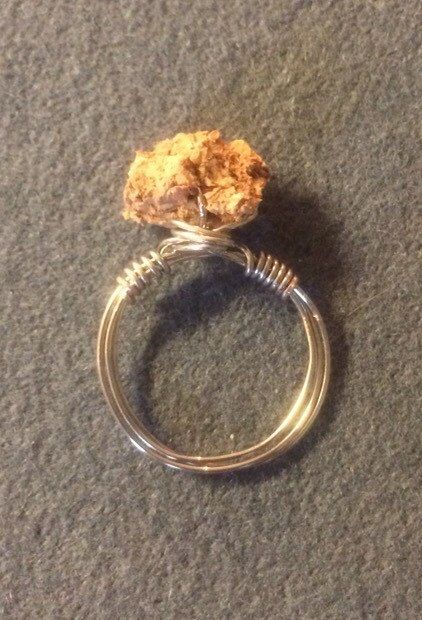 Wine Cork Ring Silver Wire Ring Handmade Wire by ArtbyKMarie