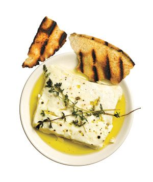 Grilled Feta With Thyme... fresh and delish!