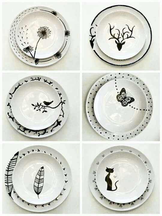 Markers, Porcelain and DIY and crafts on Pinterest