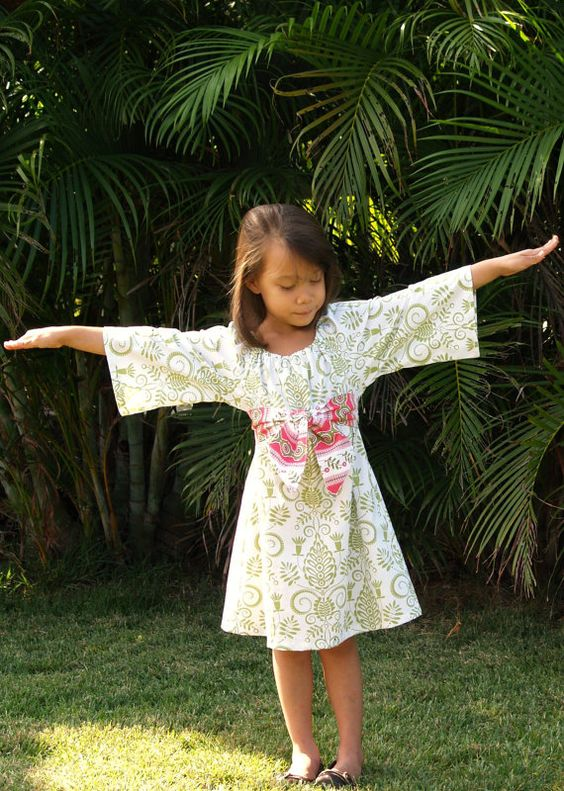 Girls Tunic Dress with shorter sleeves