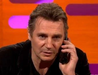 Graham Norton-Liam Neeson's scary voice mail.