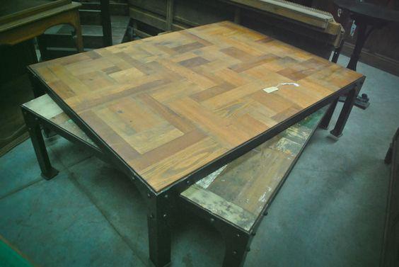 Mesas ratonas y grandes estilo patch restauradas - Mesas de campo ...