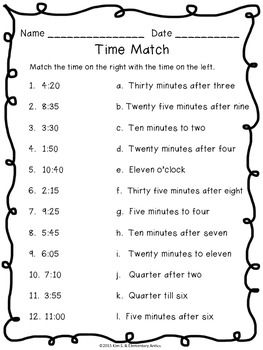 telling time pack worksheets game task cards printers telling time and the hours. Black Bedroom Furniture Sets. Home Design Ideas