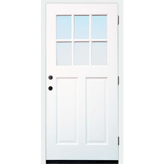 Creative Entryways Craftsman Clear Glass Right Hand Inswing White Painted Wood Prehung Entry Door Solid Core Entry Doors Front Entry Doors Wood Exterior Door