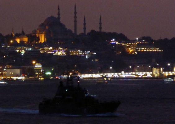 Russian landing ship Alexander Shablin returned to the region for her Syrian Express deployments. Photo: Alper Böler.