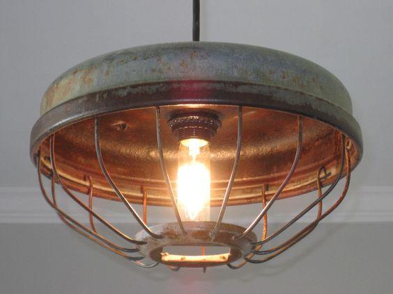 Chicken Feeder Industrial Pendant Light