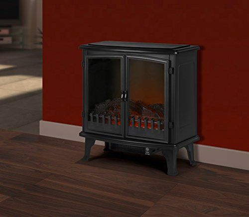 Supawarm Free Standing Electric Fire With 2 Door Log 1800w