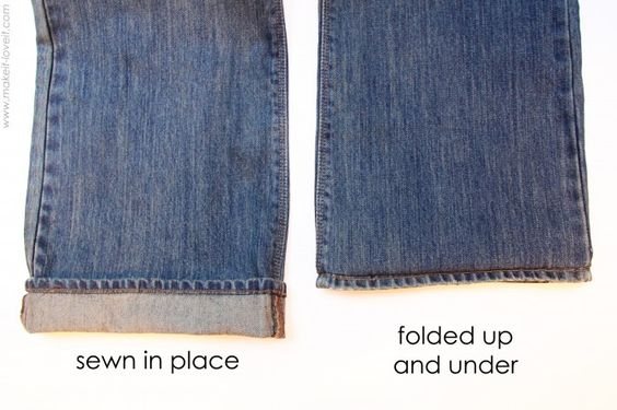 Hem jeans without it being noticeable!