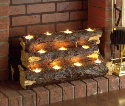 Log Lights - when you want the glow of a fire, but not the mess! Possible DIY?