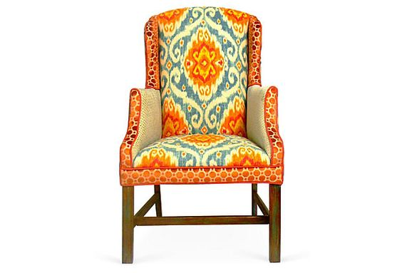 Two of these Fiesta Chair's would add some spice to my earthy toned house!