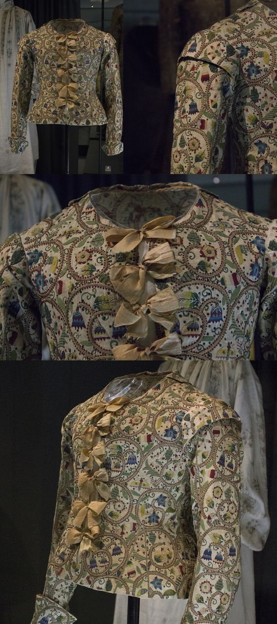ca. 1620 Jacobean jacket. Fashion museum Bath.: