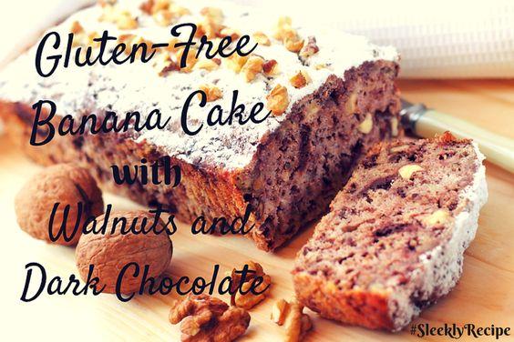"Celebrate ""Banana Day"" today with gluten-free banana cake! :)  #bananaday #bananacake #glutenfree #sept12 #sleeklyrecipe #banana #cake"