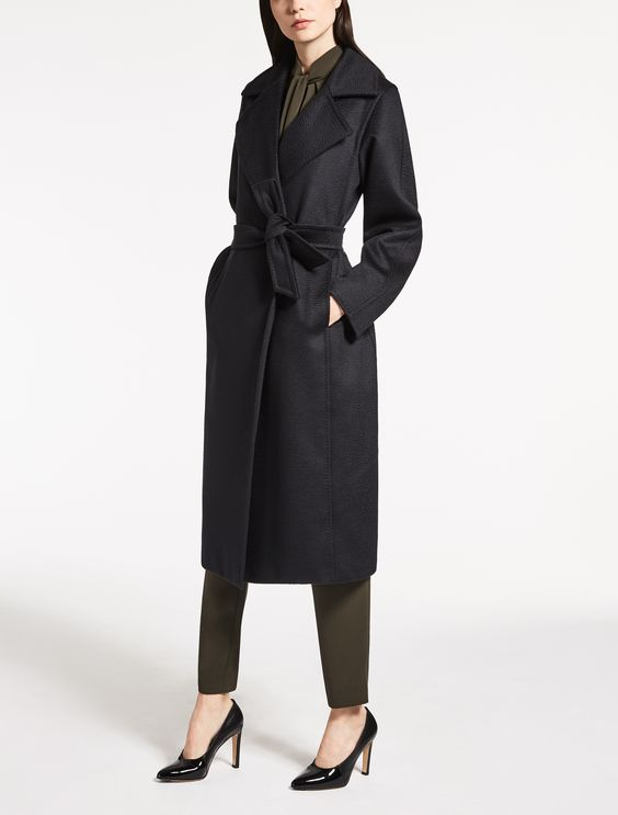 "Camelhair coat, black - ""MANUELA"" Max Mara"