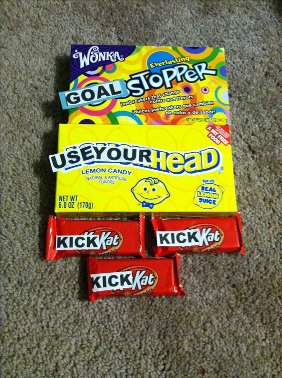 Soccer candy change ups for #soccer #seniors #goodybags