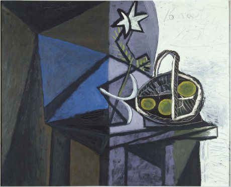 Pablo Picasso (Pablo Ruiz Picasso) Malaga, Spain, 1881 - Mougins, France, 1973 Nature morte (Still Life) Date:  1944 Technique:  Oil on canvas