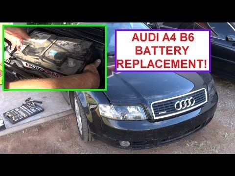 Battery Replacement On Audi A4 B6 How To Remove And Replace The Battery Audi A4 B6 Youtube Audi A4 Audi Battery