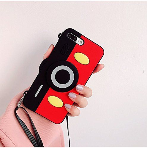 Mickey Mouse Camera Case with Strap for iPhone 7 iPhone 7Plus ...