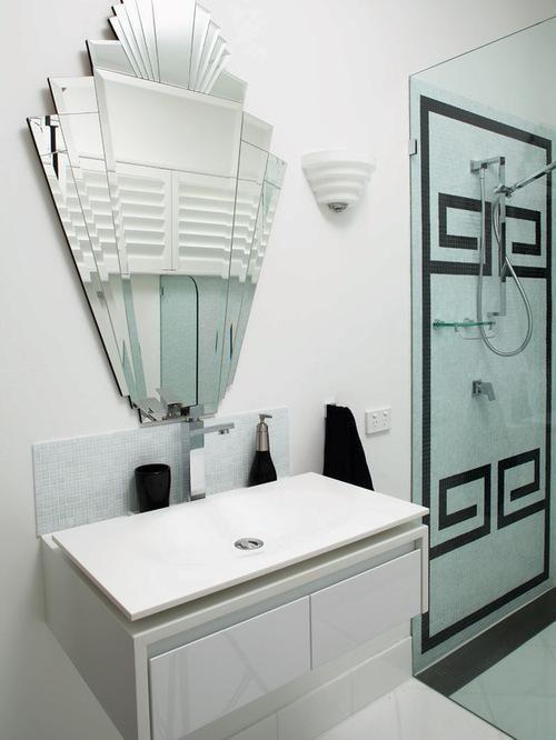 Badezimmerspiegel Art Deco Badezimmer Art Deco Spiegel Deko
