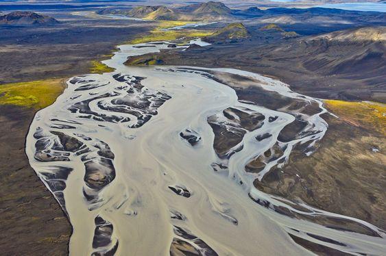 Schmelzwasserfluss, Thorsa, Island