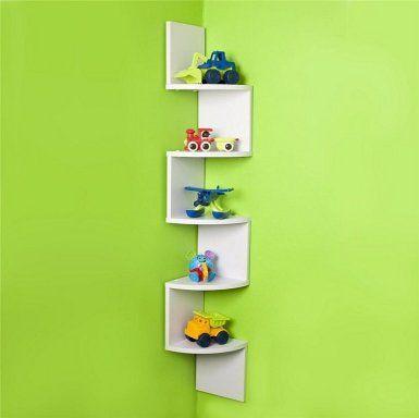 La mejor soluci n para habitaciones peque as estanter as - Estanteria de esquina ...