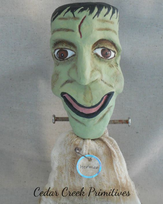 Herman by Cedar Creek Primitives.  Hand sculpted paper clay
