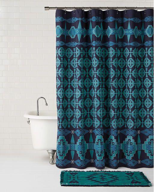 Tucson Embroidered Shower Curtain Liz Bathroom Curtains Shower Home