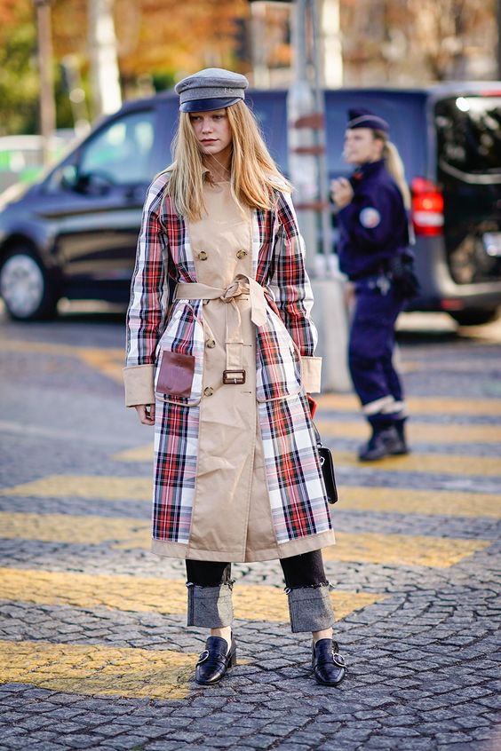 STYLECASTER | 25 Trench Coats | Tartan Street Style