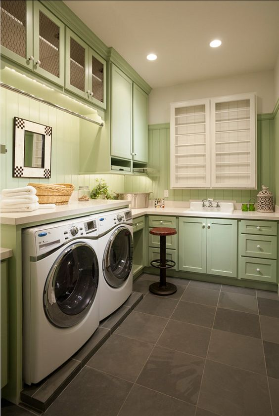 Laundry Rooms Laundry And Custom Cabinets On Pinterest