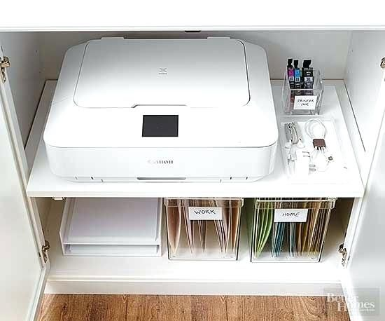 Under Printer Paper Storage Storage Trends That Are Here To Stay Desktop Printer Stand Paper Stora Home Office Storage Home Office Organization Printer Storage