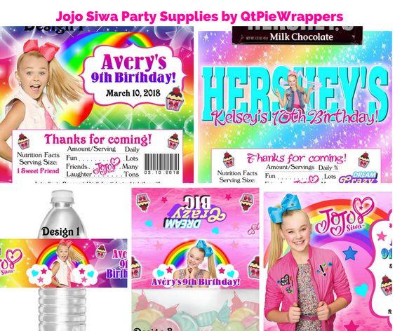Jojo Siwa Party Supplies by QtPieWrappers
