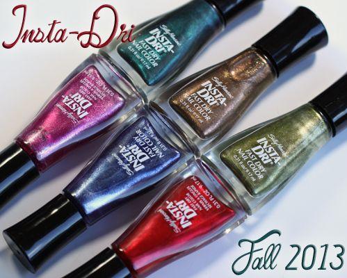 Sally Hansen Insta-Dri Fall 2013 Nail Polish Swatches ...