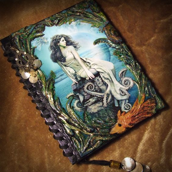 Mermaid Polymer Clay Journal Cover