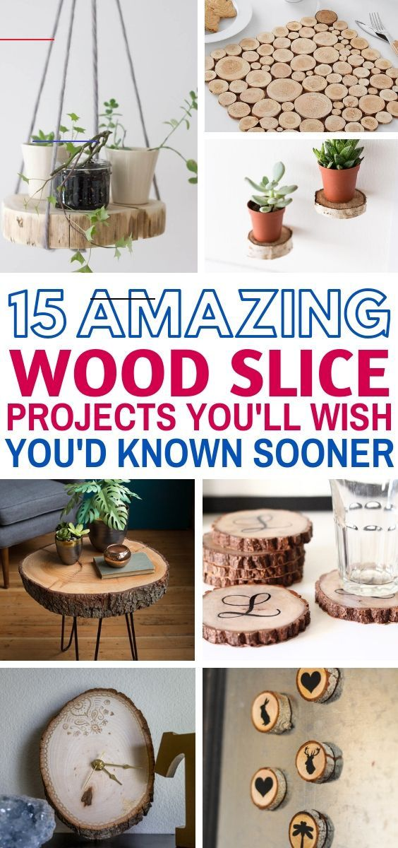 Diyprojects Wood Slice Projects That Will Make A Great Addition To Your Home Decor There S Coasters Floating Wood Slice Crafts Wood Crafts Diy Wood Slices