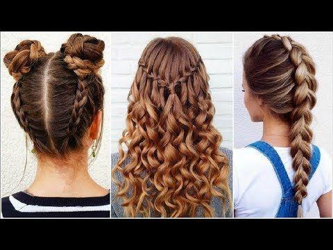 Peinados Faciles Rapidos Y Bonitos Con Trenzas 2017 2018 Amazing Hairstyles Tutorials Compilation Youtube Hair Styles Hair Styles 2017 Peinados Faciles