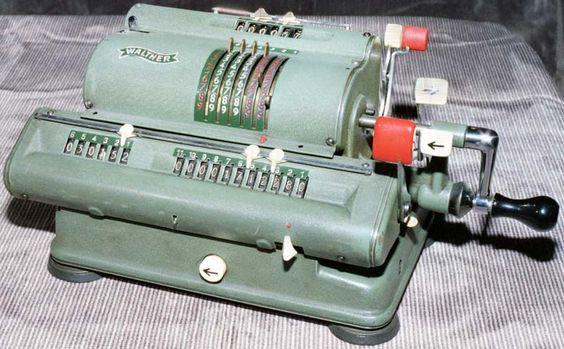 Walther Mod. WSR 11 ca. 1956 Walther Büromaschinen GmbH Niederstotzingen/Württemberg #Rechenmaschine historisch