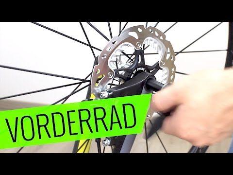 Fahrrad Vorderrad Ein Ausbau Scheibenbremse Fehler Vermeiden