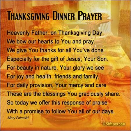 Thanksgiving Prayer 6 Wordsonimages Pinterest