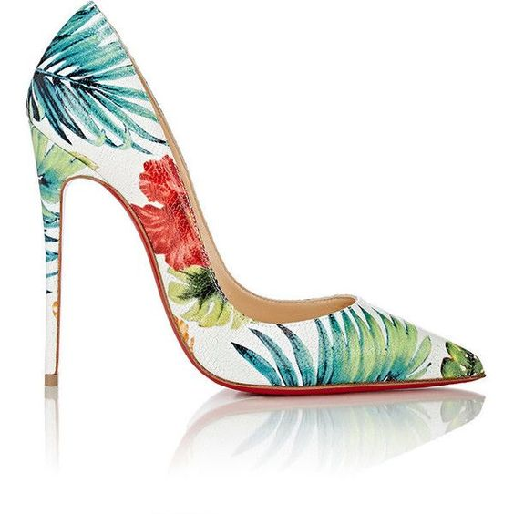 Christian Louboutin Women's So Kate Pumps ($715) ❤ liked on Polyvore featuring shoes, pumps, heels, louboutin, white, high heel pumps, multi-color pumps, white pointed-toe pumps, multi colored pumps and white shoes