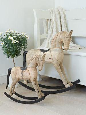 Vintage Wooden Rocking Horses - Nordic House
