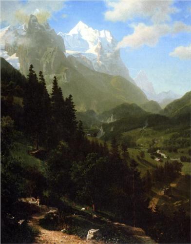 The Wetterhorn - Albert Bierstadt