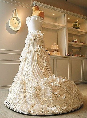 Wedding dress cake cakes
