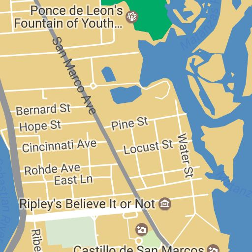 Plan your vacation with our interactive St Augustine Map User – St Augustine Tourist Attractions Map