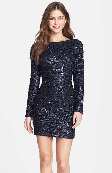 Dress the Population 'Lola' Sequin Body-Con Dress (Nordstrom Online Exclusive) available at #Nordstrom: