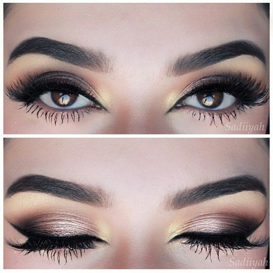 Gorgeous eyes. Smokey makeup look perfection. Bridal makeup inspiration. Add mink lashes to complete the look. #ESQIDO Voila Lash mink lashes.: