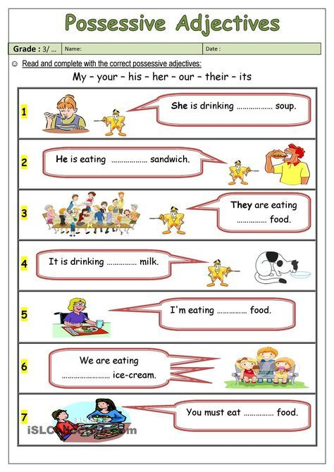 Possessive Adjectives Atividades Pronomes Exercicios De Ingles