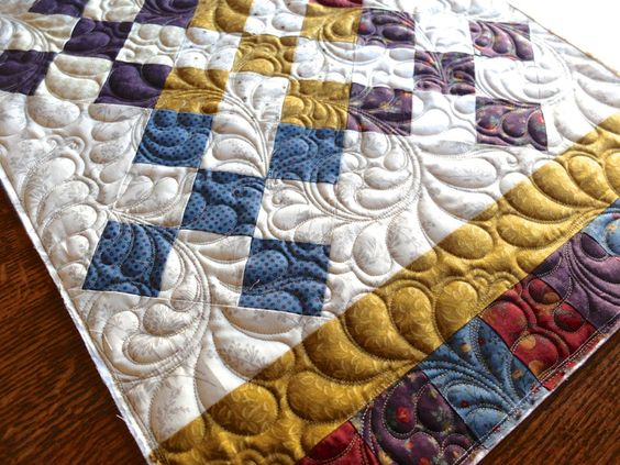 Quilting detail.