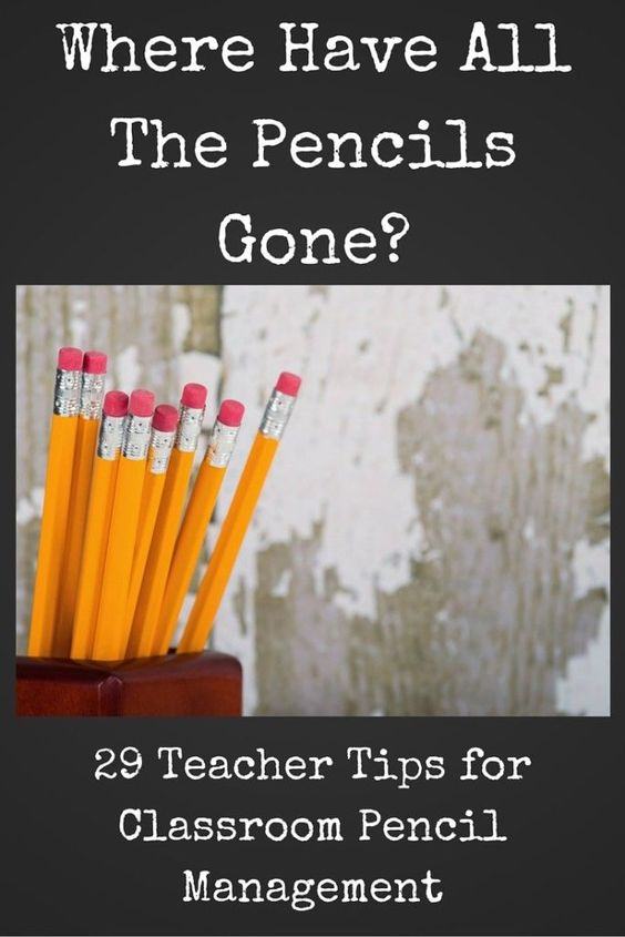 Where have all the pencils gone?!?! How do you manage them in your classroom? This blog post features tips from 29 different teachers for pencil management in the classroom.