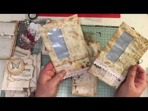 Build A Journal Kit Journal And Lots Of Embellishments Lace Fabric For Sale In My Shop Youtube Homemade Journal Vintage Junk Journal Vintage Journal