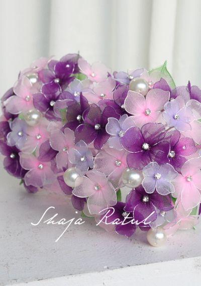 Hand made flower from nylon  ( bunga pahar stokin )