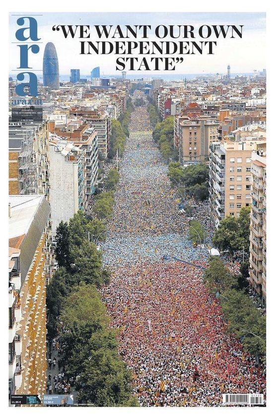 Portadón de @diariARA #WeAreCatalonia